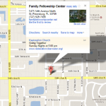 Directions to Family Felloeship Center St. Petersburg